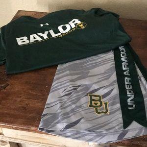 Under Armor Baylor Bear Shirt and Shorts